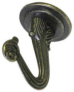Hillman 122232 Antique Brass Swag Hook