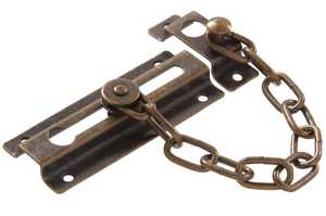 Hillman 851212 Antique Brass Door Chain