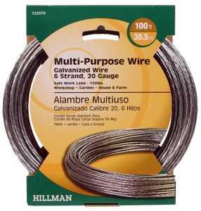 Hillman 122070 20 Gauge - Galvanized Stranded Wire