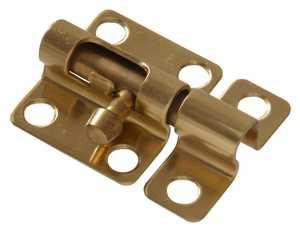 Hillman 852248 Mini Barrel Bolt 2 in Solid Brass/Bright Brass