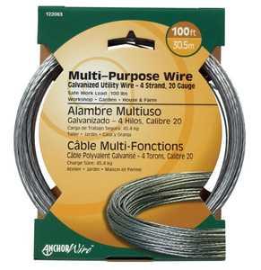 Hillman 122063 20 Gauge - Galvanized Stranded Wire