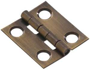Hillman 851181 1-1/2 in Solid Brass/Antique Brass Narrow Hinge