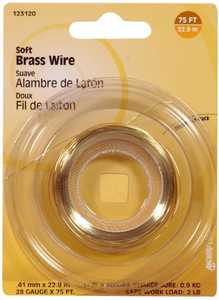 Hillman 123120 28 Gauge - Brass Wire