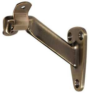 Hillman 852873 Antique Brass Handrail Brackets - Heavy Duty