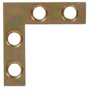 Hillman 852199 1-1/2 x 3/8 in Zinc & Yellow Dichromate Flat Corner