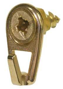 Hillman 122400 #6 Brass - WallDriller Picture Hooks