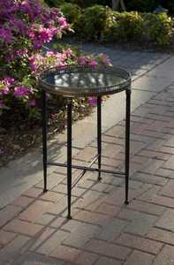 Imax Corp 12002 Round Black Accent Table