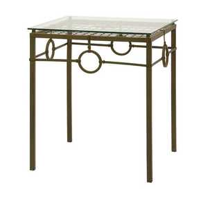 Imax Corp 10850 Tabora Glass Top Accent Table