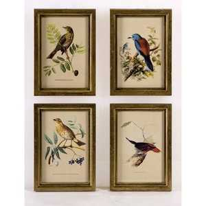 Imax Corp 16125-4 Wooden Bird Plaques - Set Of 4