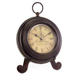 Imax Corp 2513 Brown Iron Desk Clock