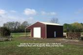 24x40x14 Post Frame Garage with 1-12ft Porch