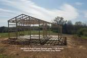 24x30x12 Post Frame with 1-12ft Porch