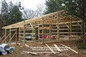 24x30x10 Post Frame Garage with 8ft Porch