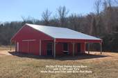36x36x12 Post Frame Horse barn with 2-12ft lean To's