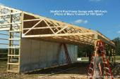 24x40x14 Post Frame Garage with 18ft Porch