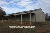 30x50x10 Post Frame Building with 2-8ft Porches