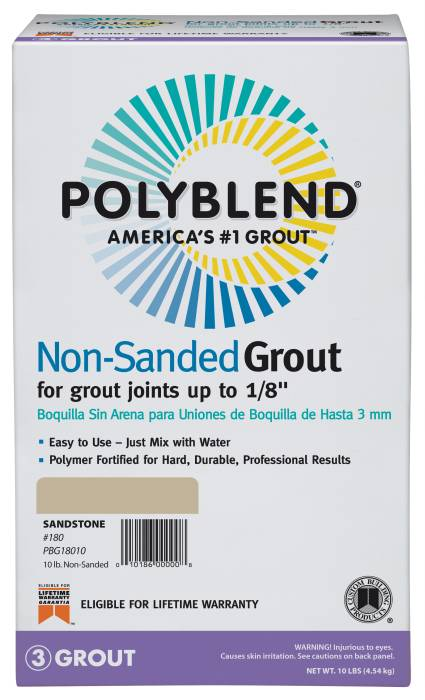 Polyblend Grout Non Sanded Platinum 10 Custom Building Products Pbg11510