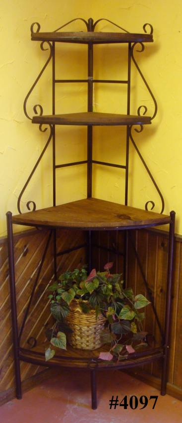 Rustic Pine Furniture 4097 Karens Corner Bakers Rack At