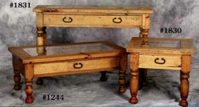 Rustic Pine Furniture 1244 Showcase Coffee Table At Sutherlands