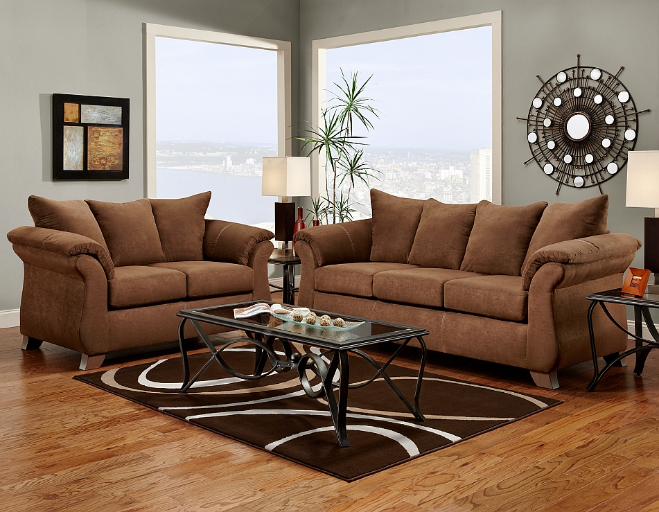Affordable Furniture 6703 Aruba Chocolate Sofa at Sutherlands