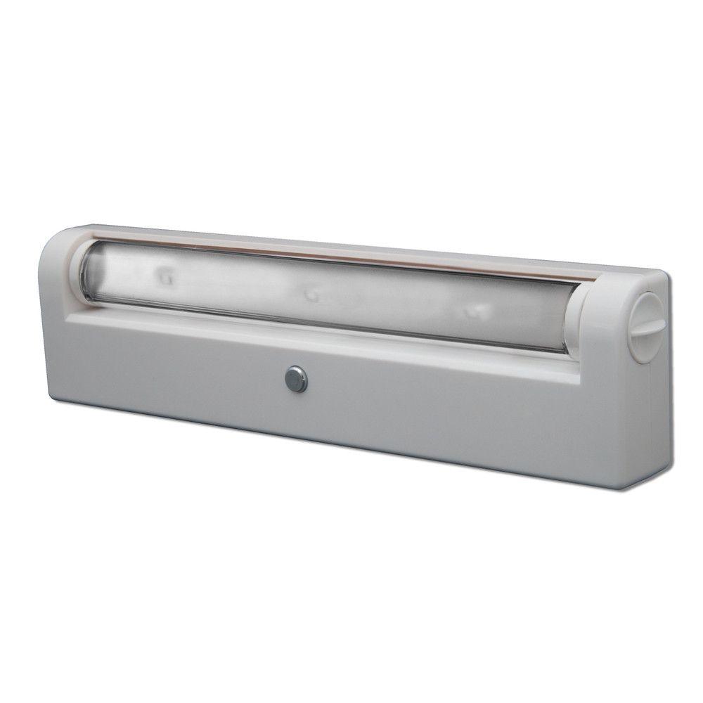 Hampton Bay Led Under Cabinet Light: RiteLite LPL640W White LED Swiveling Under Cabinet Light
