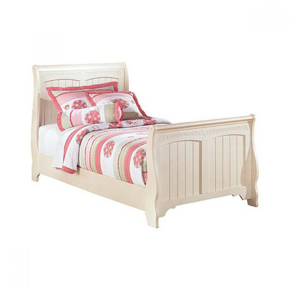 Cottage Retreat Collection Cream Cottage Twin Sleigh Rails