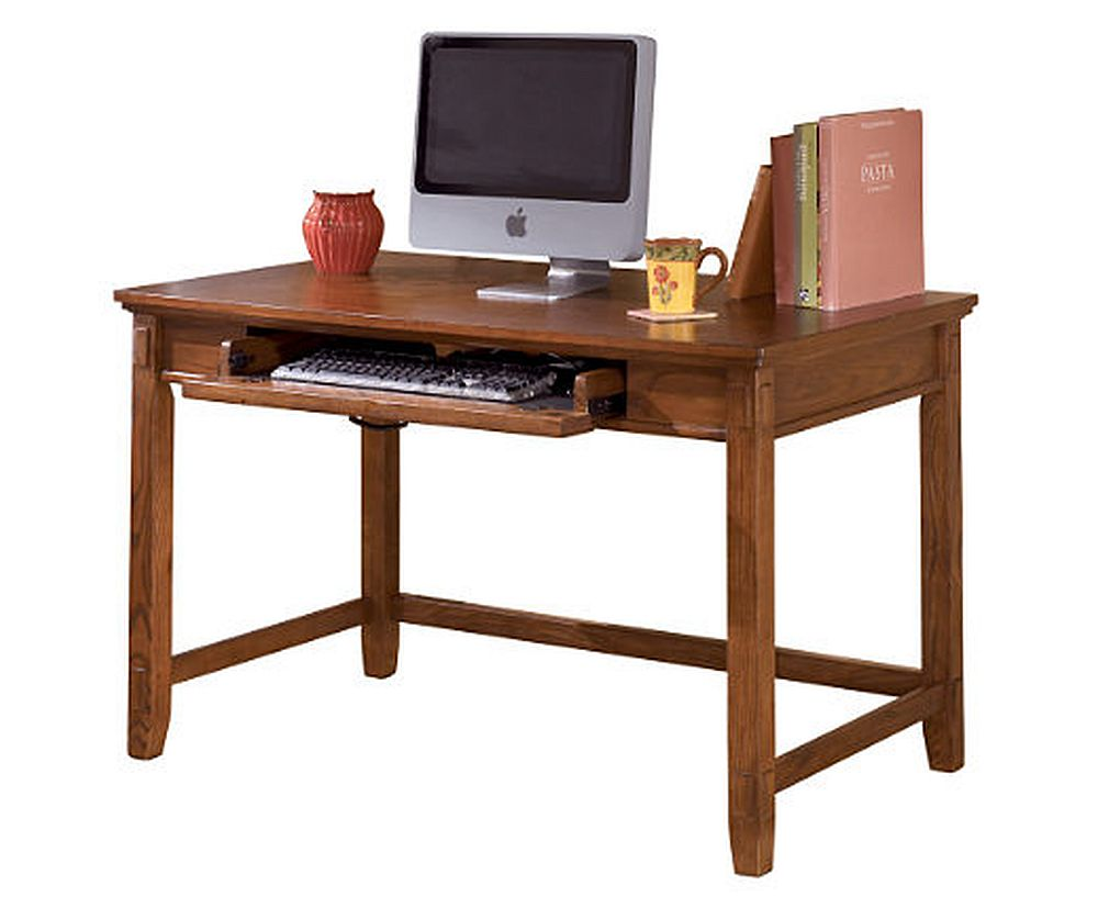 Swell Cross Island 48 Inch Brown Home Office Desk Beutiful Home Inspiration Semekurdistantinfo