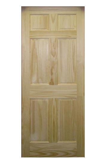 Sutherlands 2/4X6/8 28 in 6-Panel Pine Door Slab at Sutherlands