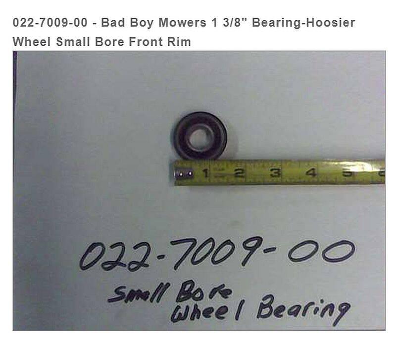 BAD BOY MOWERS 022-7009-00