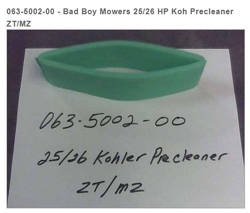 BAD BOY MOWERS 063-5002-00