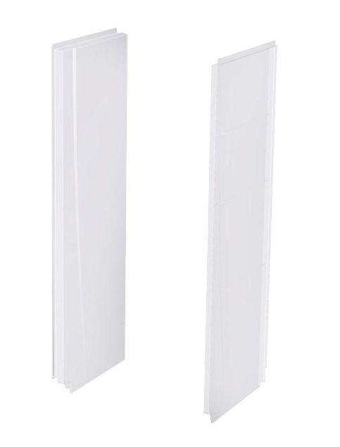 Aquatic 2774csw Aw 5 X 27 X 74 Inch White 2 Piece Direct To Stud Alcove Shower Wall Panels At Sutherlands