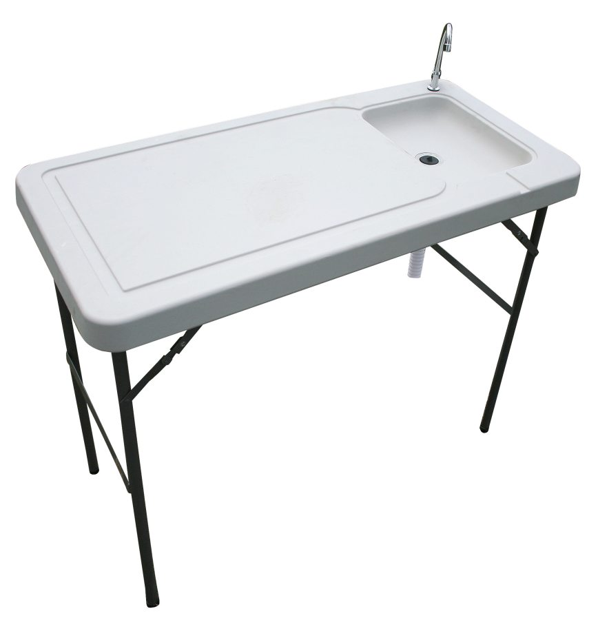 Buffalo tools fishtable fish game table with faucet at for Fish and game table