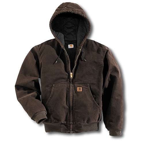Carhartt J280 Dkb Mens Active Jacket Duck Hoodie At