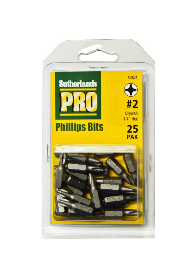 Sutherlands pro 53821 bit reduced nose 25pk at sutherlands for Sutherlands building packages