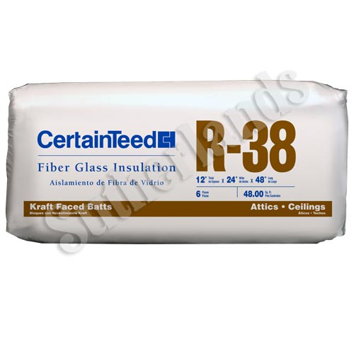 Certainteed 900135 R38 In Ulation Kraft Faced Batts 12x24x48 At Sutherlands