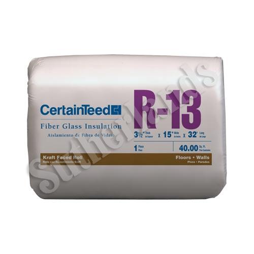 Certainteed 990320 r13 in ulation kraft faced roll 31 2x15 for Batt insulation cost