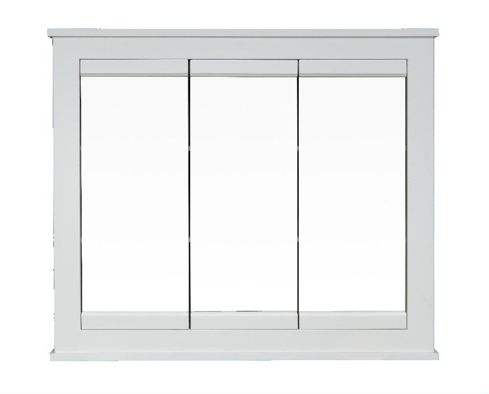 Osage Cabinet MTVS3630-F-1 36 x 30-Inch White Tri-View ...