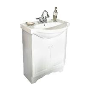 Advantek Euro Style 24x19 White Euro Vanity With Top At Sutherlands