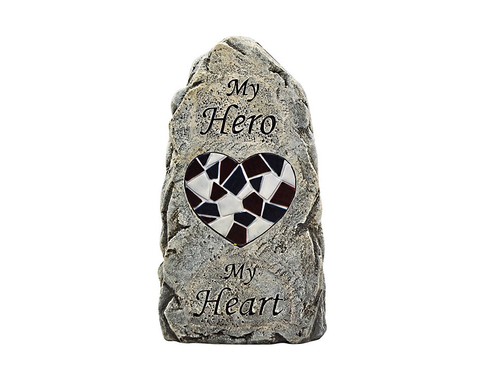 Coleman Cable 91555 Solar Powered My Hero Memorial Stone Light at ...