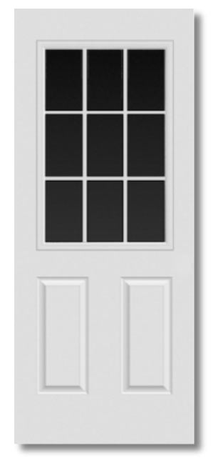 Sutherlands 28x68 Rh 32 In 9 Lite Steel Entry Door Rh At Sutherlands