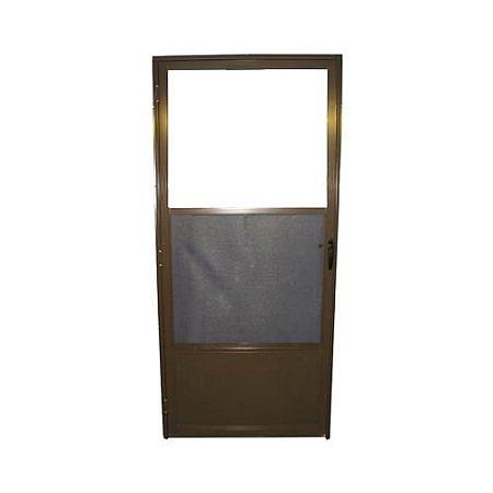 Croft 163 32x80 32 Inch Bronze Storm Door With Self