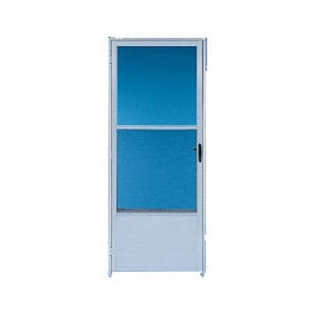 Croft 163 32x80 white storm door with self storing screen for 32x80 storm door