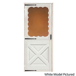 Croft 464 32x80 storm door crossbuck bronze at sutherlands for 32x80 storm door