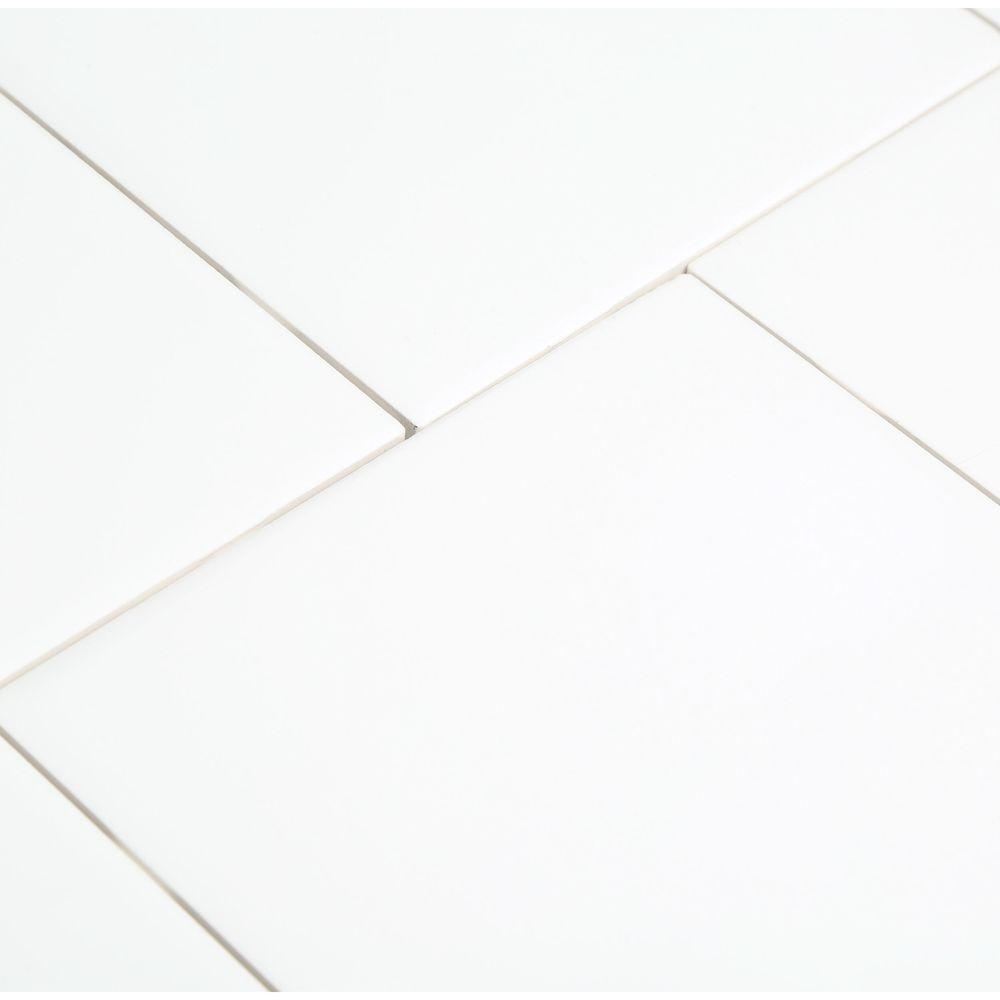 6 X 6 Inch White Ceramic Wall Tile