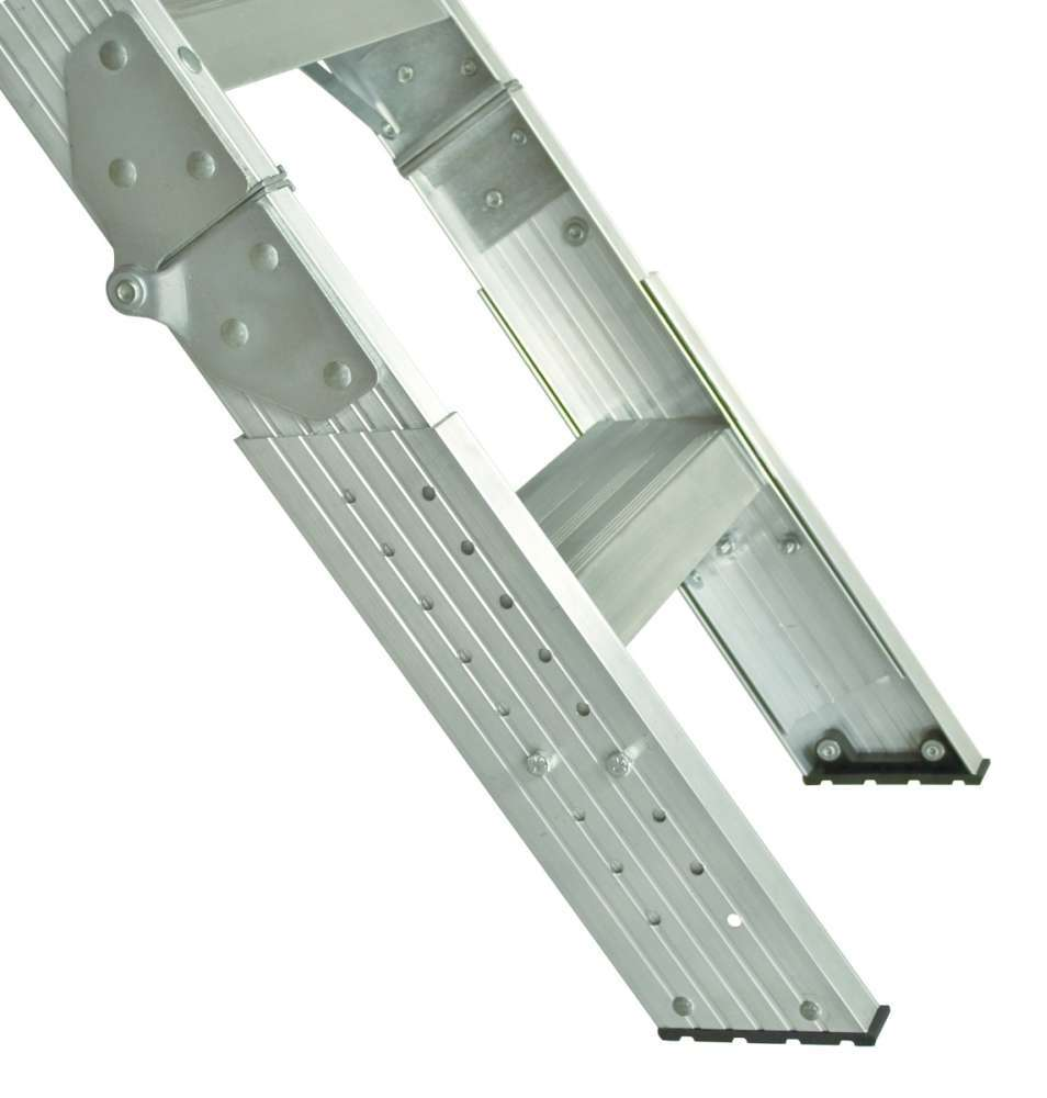 Louisville Ladder Aa2210 7 Ft 8 In To 10 Ft 3 In Aluminum