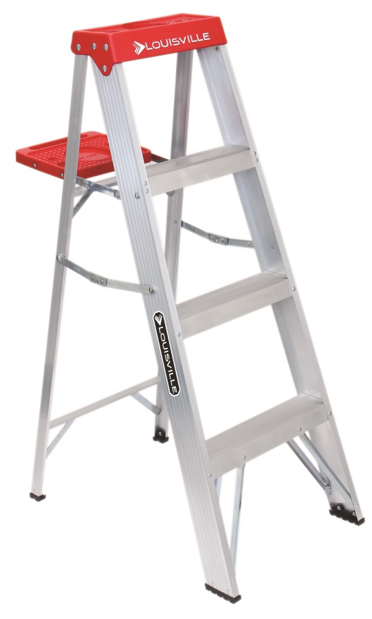 Stupendous 4 Ft Type Iii Aluminum Step Ladder 200 Lb Rated Pabps2019 Chair Design Images Pabps2019Com