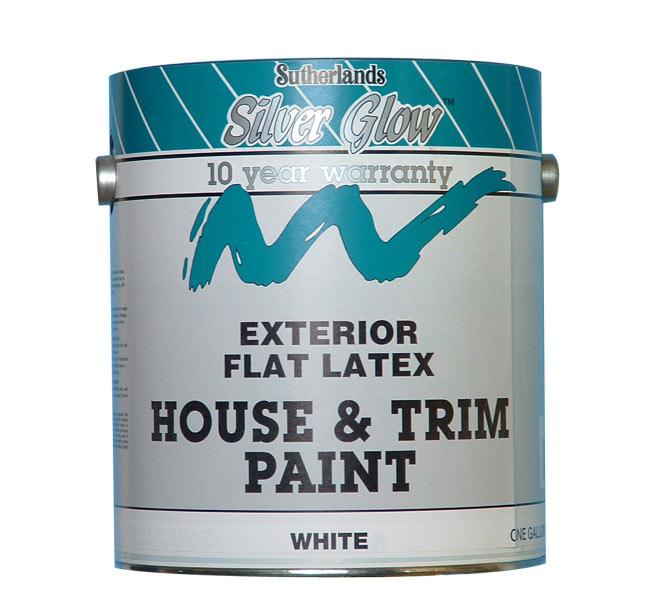 exterior paint latex house trim flat tint base gallon at sutherlands. Black Bedroom Furniture Sets. Home Design Ideas