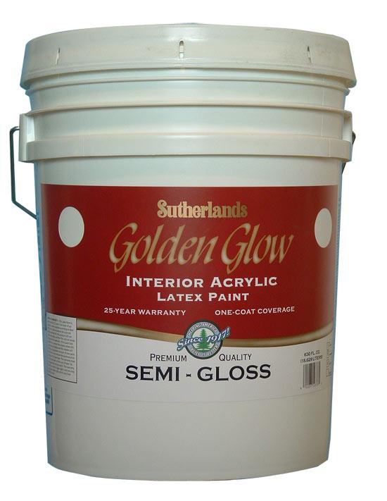 davis paint 57551 golden glow interior latex paint semi. Black Bedroom Furniture Sets. Home Design Ideas