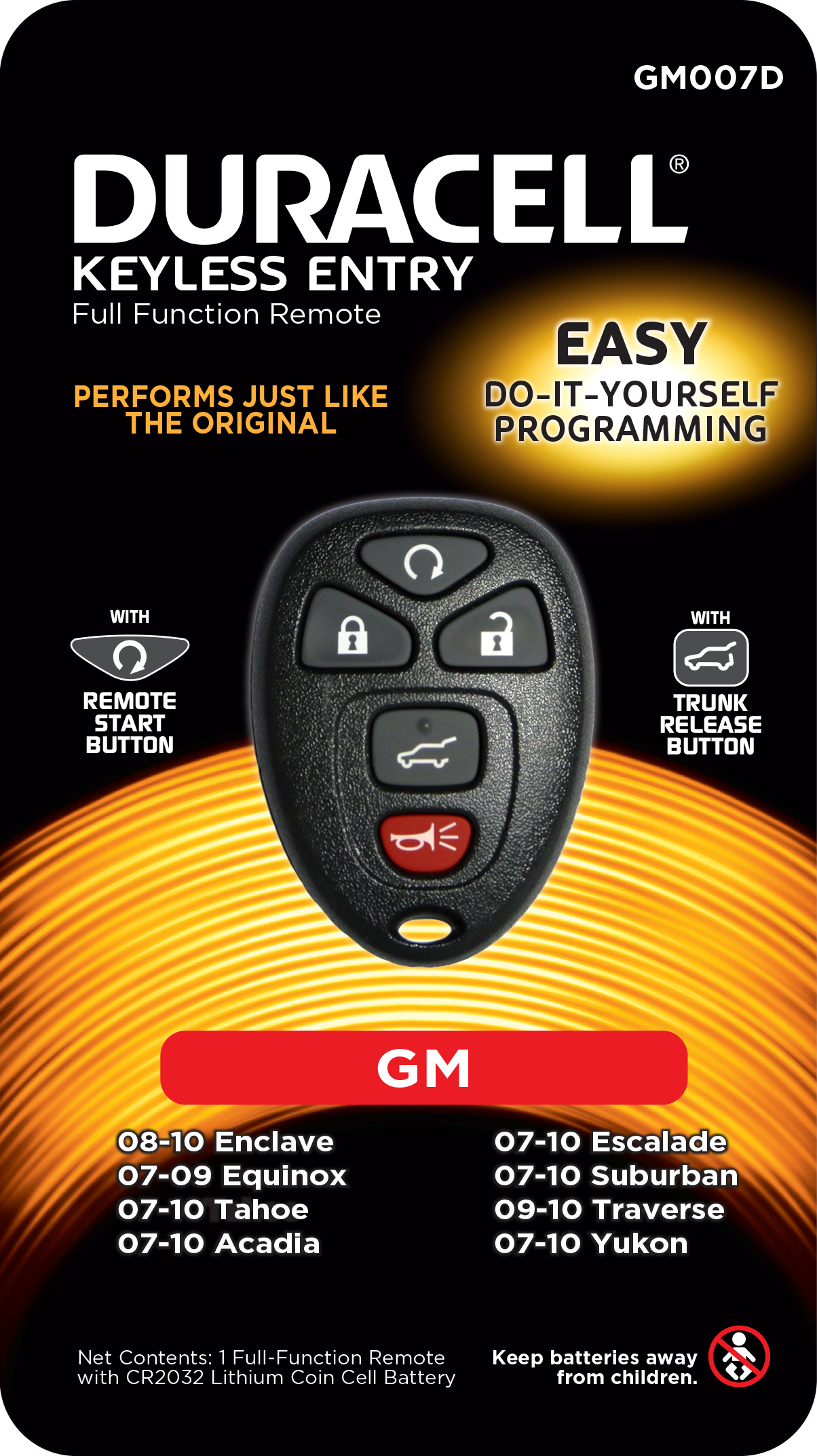Duracell Remotes GM007D