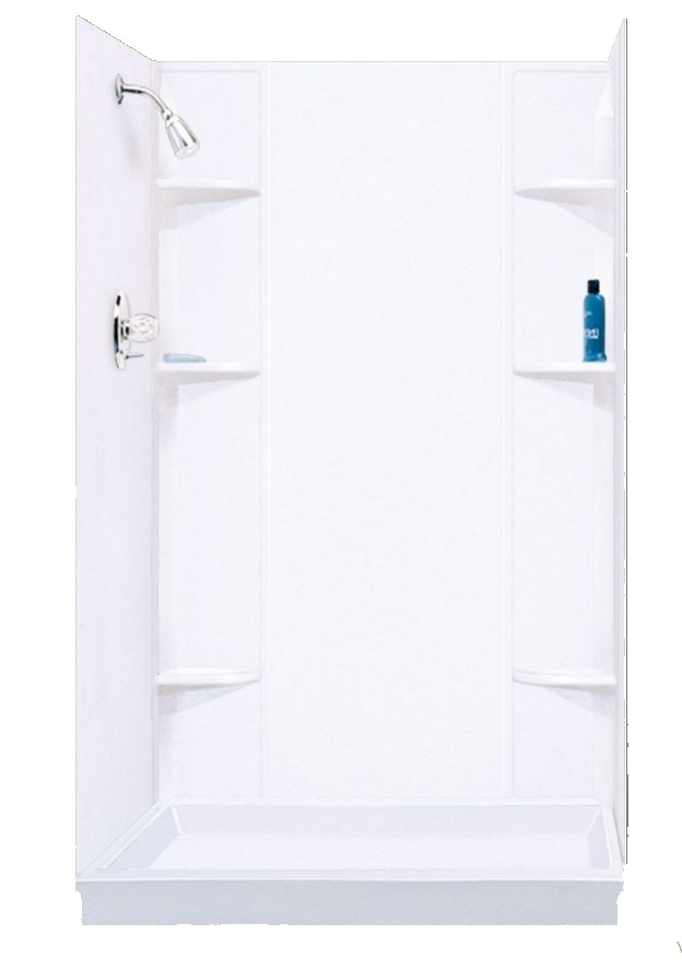 E L MUSTEE & SONS, INC 260WHT Durawall Thermoplastic White Shower ...